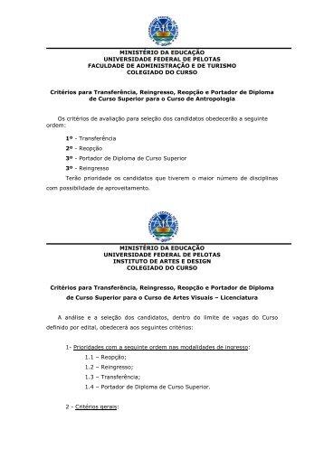 MINISTÉRIO DA EDUCAÇÃO UNIVERSIDADE FEDERAL DE ...