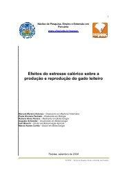 Efeito do estresse calórico sobre a produção e reprodução do gado ...