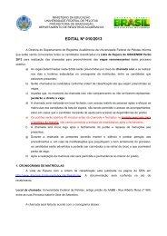 EDITAL Nº 010/2013 - Universidade Federal de Pelotas
