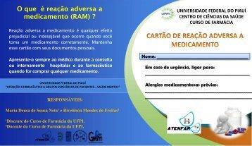 O que é reação adversa a medicamento (RAM) ? Aluna - UFPI