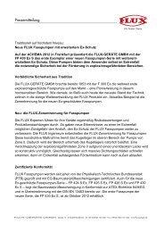 Download Pressemitteilung - Flux Geräte Gmbh
