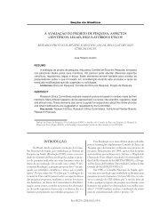 a avaliação do projeto de pesquisa: aspectos científicos ... - Ufrgs