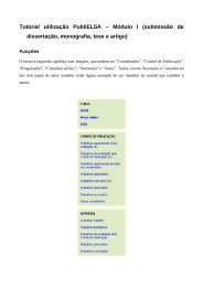 Tutorial utilização PubliELSA – Módulo I (submissão de ... - UFRGS