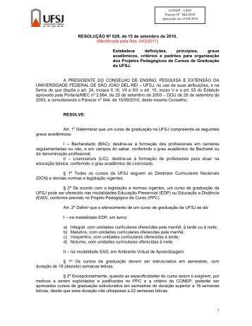 Res. 029, de 15/09/2010 - UFSJ