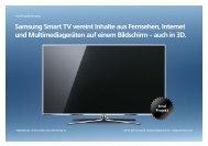 Samsung Smart TV Vereint Inhalte Aus Fernsehen, Internet - trndload