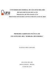 PRIMEIRO JARDIM DE INFÂNCIA - UFSJ