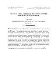 ajuste de modelo de elementos finitos segundo método da ... - UFSJ