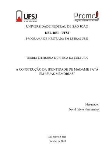 suas memórias - UFSJ