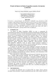Projeto de Bancos de Dados Geográficos usando a ... - UFV