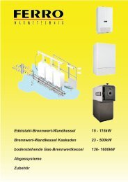 Edelstahl-Brennwert-Wandkessel 15 - 115kw Brennwert ...