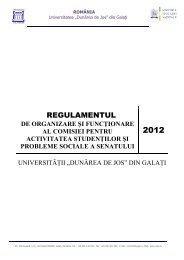 Regulamentul de organizare şi funcţionare al Comisiei pentru ...