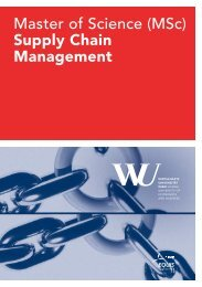 Master of Science (MSc) supply chain management