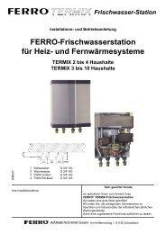 Ferro-Frischwasserstation für Heiz- und Fernwärmesysteme