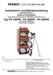 FH 25SPR - ferro wärmetechnik