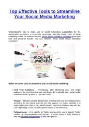Top Effective Tools to Streamline Your Social Media Marketing