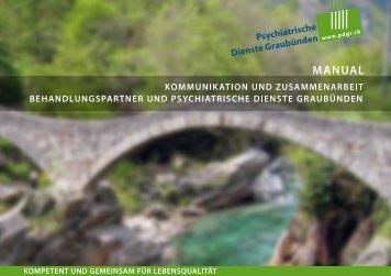 Manual Zusammenarbeit Behandlungspartner und PDGR