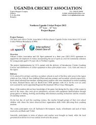 Northern Uganda Cricket Project