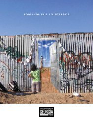 BOOKS FOR Fall / winteR 2012 - University of Georgia Press