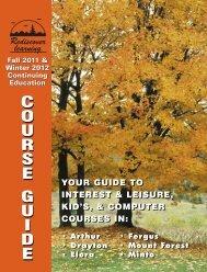 courseguidecourseguid e - Upper Grand District School Board