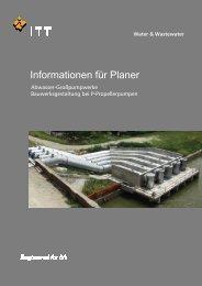 Informationen für Planer - Xylem Water Solutions Deutschland GmbH