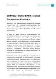 SCHMOLZ+BICKENBACH erweitert Sortiment um Aluminium - Ugitech