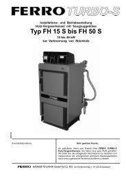 FH..S mit Saugzuggebläse - ferro wärmetechnik