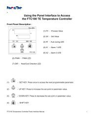 Using the Panel Interface to Access the FTC100 TE ... - Ferrotec