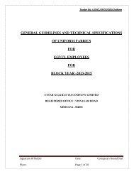 Fabric Specification - uttar gujarat vij company ltd.