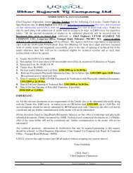 Chief Engineer (Operation) invites On line Tenders for the following ...