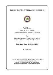 Uttar Gujarat Vij Company Limited - GERC