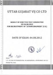 Result of written test conducted on 04/08/2012 for Jr. Engineer (VS)