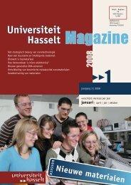 Universiteit Hasselt Magazine - UHasselt