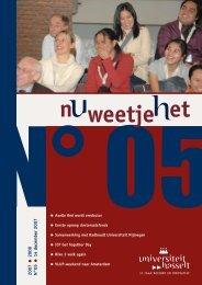2007 2008 N°05 14 december 2007 - UHasselt