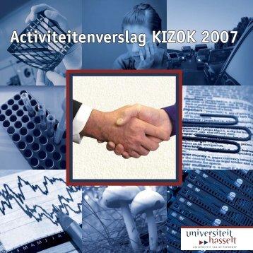 Activiteitenverslag KIZOK 2007 Activity - UHasselt