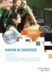MASTER OF STATISTICS - UHasselt
