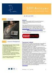 SOFIA Nieuwsbrief 12 (april 2006) - UHasselt
