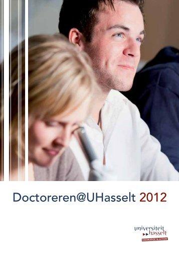 Brochure Doctoreren @ UHasselt