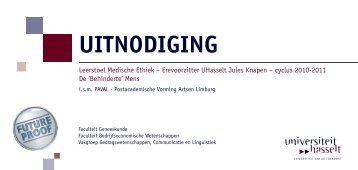 UITNODIGING - UHasselt
