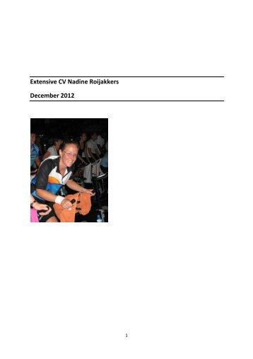 Extensive CV Nadine Roijakkers December 2012 - UHasselt