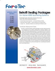 Rebuild Retrofit Sealing - Ferrotec
