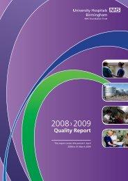Quality Report 2008-2009 - University Hospitals Birmingham NHS ...