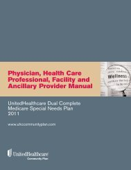 Physician, Health Care Professional, Facility and Ancillary Provider ...