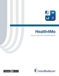 Health4Me App Brochure - UHC Tools