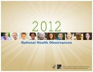 2011 National Health Observances - Virginia Health Promotion for ...