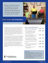 Heart Health and Cholesterol Brochure - UHC Tools