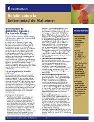 Boletín sobre la Enfermedad de Alzheimer - UHC Tools