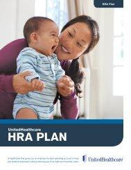 HRA Plan enrollment brochure - UHC Tools