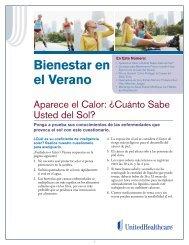 Bienestar en el Verano - UHC Tools