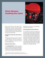 Heart disease: breaking the trend. - UHC Tools