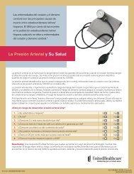 La Presión Arterial y Su Salud - UHC Tools